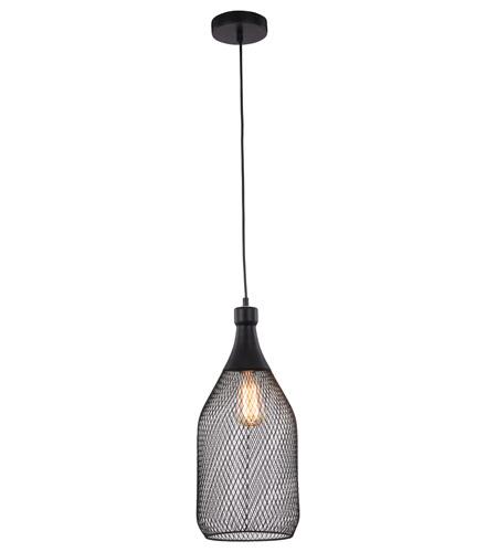 Elegant Lighting 2109d8bk Brighton 1 Light 8 Inch Black Pendant Ceiling Photo