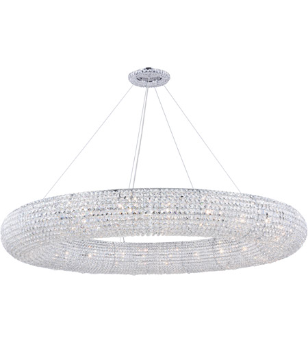 Paris 24 Light 59 Inch Chrome Chandelier Ceiling Royal Cut Clear Crystal