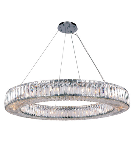 Cuvette 24 Light 43 Inch Chrome Chandelier Ceiling Royal Cut Clear Crystal