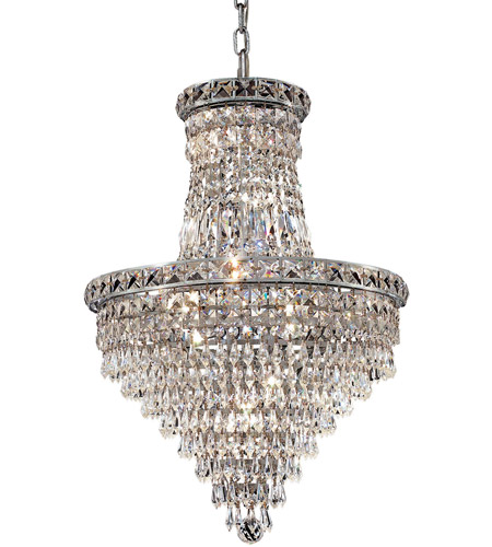 Elegant Lighting 2526D18C/RC Tranquil 12 Light 18 inch Chrome Dining Chandelier Ceiling Light in Royal Cut photo