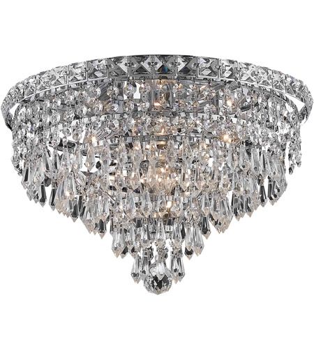 Elegant Lighting 2526F16C/SS Tranquil 6 Light 16 inch Chrome Flush Mount Ceiling Light in Swarovski Strass photo
