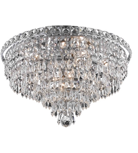 Elegant Lighting 2526F18C/RC Tranquil 8 Light 18 inch Chrome Flush Mount Ceiling Light in Royal Cut photo