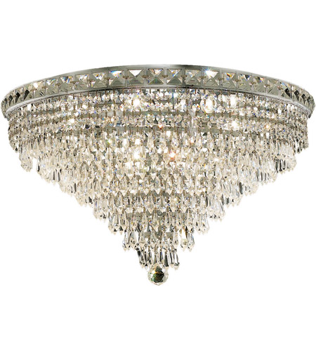 Elegant Lighting Tranquil 12 Light Flush Mount in Chrome with Royal Cut Clear Crystal 2526F24C/RC photo
