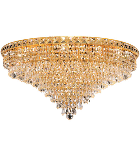 Elegant Lighting Tranquil 18 Light Flush Mount in Gold with Royal Cut Clear Crystal 2526F30G/RC photo