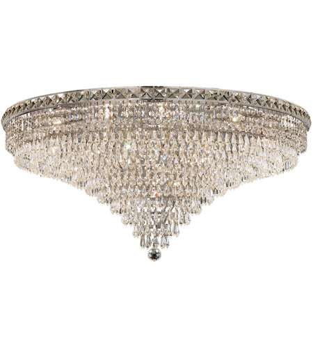 Elegant Lighting 2526F36C/SS Tranquil 21 Light 36 inch Chrome Flush Mount Ceiling Light in Swarovski Strass photo