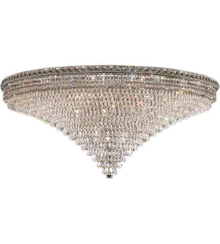 Elegant Lighting Tranquil 33 Light Flush Mount in Chrome with Royal Cut Clear Crystal 2526F48C/RC photo