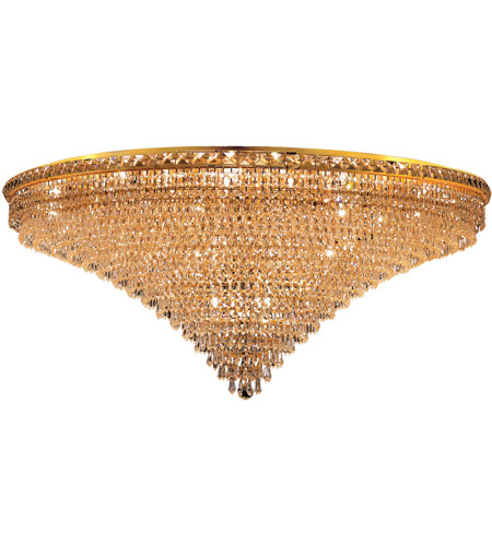 Elegant Lighting Tranquil 33 Light Flush Mount in Gold with Royal Cut Clear Crystal 2526F48G/RC photo