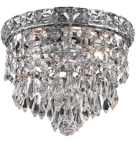 Elegant Lighting 2526F8C/RC Tranquil 2 Light 8 inch Chrome Flush Mount Ceiling Light in Royal Cut photo