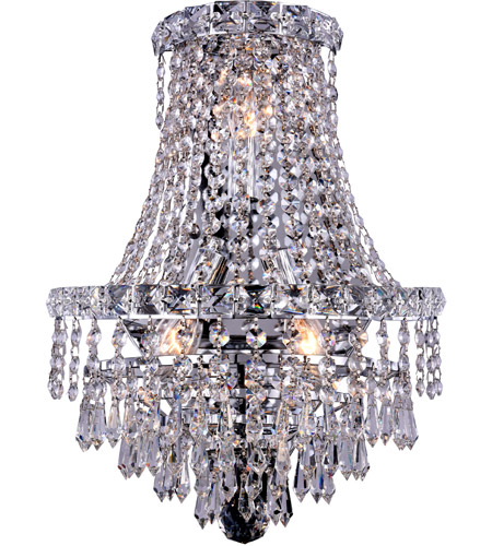 Elegant Lighting Tranquil 3 Light Wall Sconce in Chrome with Royal Cut Clear Crystal 2526W12C/RC photo