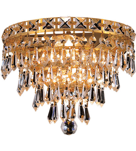 Elegant Lighting Tranquil 3 Light Wall Sconce in Gold with Elegant Cut Clear Crystal 2526W12G/EC photo
