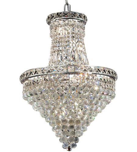 Elegant Lighting Tranquil 12 Light Dining Chandelier in Chrome with Spectra Swarovski Clear Crystal 2527D18C/SA photo