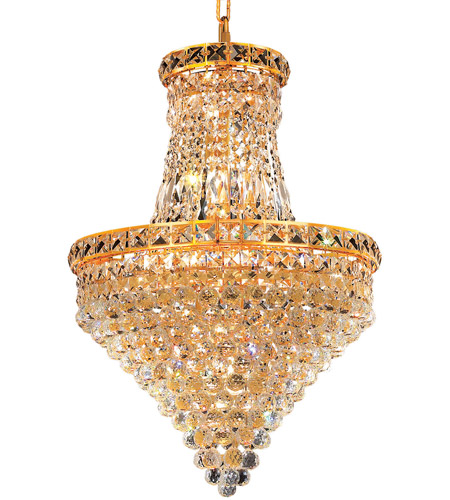 Elegant Lighting 2527D18G/RC Tranquil 12 Light 18 inch Gold Dining Chandelier Ceiling Light in Royal Cut photo