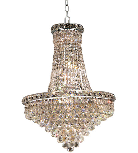 Elegant Lighting Tranquil 22 Light Dining Chandelier in Chrome with Royal Cut Clear Crystal 2527D22C/RC photo