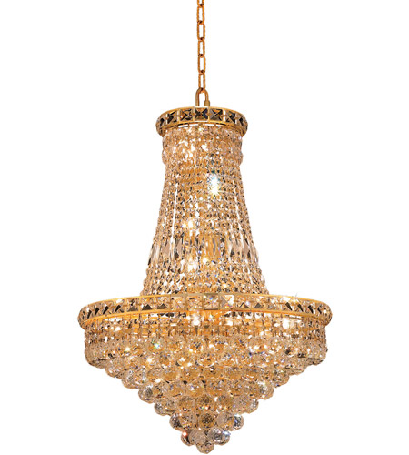 Elegant Lighting 2527D22G/RC Tranquil 22 Light 22 inch Gold Dining Chandelier Ceiling Light in Royal Cut photo