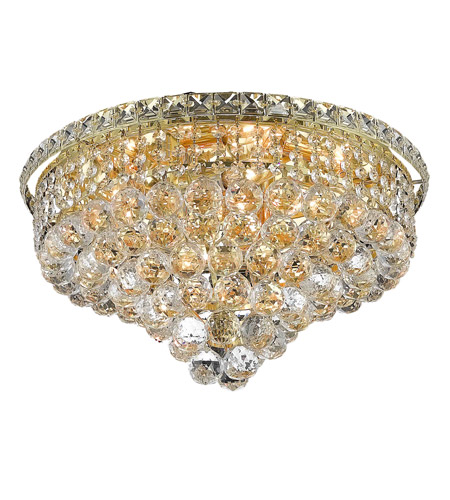 Elegant Lighting 2527F18G/SS Tranquil 8 Light 18 inch Gold Flush Mount Ceiling Light in Swarovski Strass photo