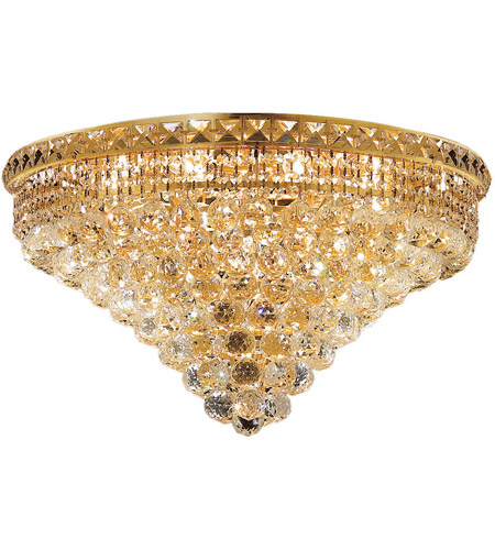 Elegant Lighting Tranquil 12 Light Flush Mount in Gold with Elegant Cut Clear Crystal 2527F24G/EC photo