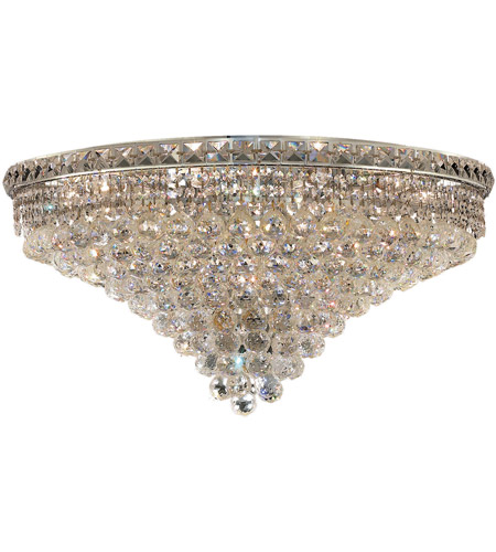 Elegant Lighting 2527F30C/SS Tranquil 18 Light 30 inch Chrome Flush Mount Ceiling Light in Swarovski Strass photo