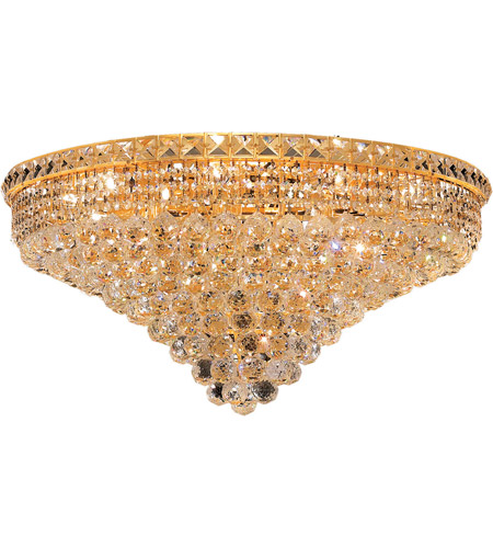 Elegant Lighting 2527F30G/RC Tranquil 18 Light 30 inch Gold Flush Mount Ceiling Light in Royal Cut photo