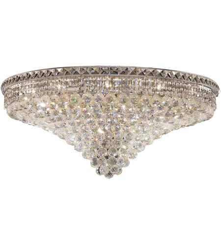 Elegant Lighting Tranquil 21 Light Flush Mount in Chrome with Swarovski Strass Clear Crystal 2527F36C/SS photo