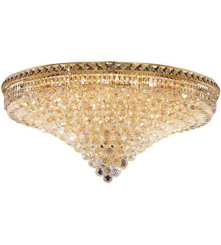 Elegant Lighting Tranquil 21 Light Flush Mount in Gold with Spectra Swarovski Clear Crystal 2527F36G/SA photo