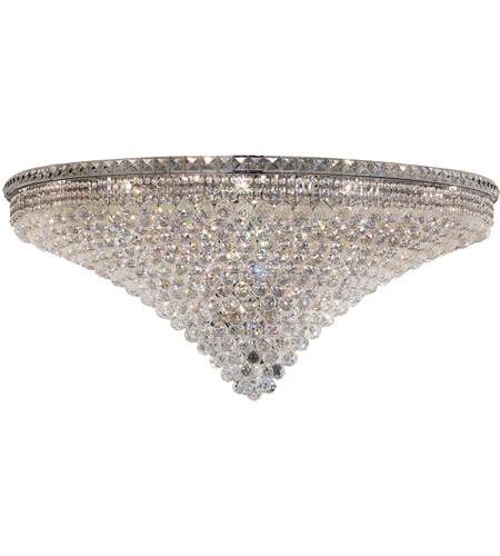 Elegant Lighting Tranquil 33 Light Flush Mount in Chrome with Elegant Cut Clear Crystal 2527F48C/EC photo