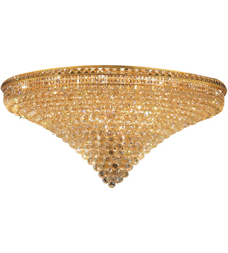 Elegant Lighting 2527F48G/SS Tranquil 33 Light 48 inch Gold Flush Mount Ceiling Light in Swarovski Strass photo