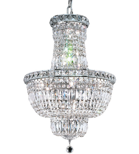 Elegant Lighting Tranquil 12 Light Dining Chandelier in Chrome with Royal Cut Clear Crystal 2528D18C/RC photo