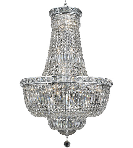 Elegant Lighting V2528D22C/SA Tranquil 22 Light 22 inch Chrome Dining Chandelier Ceiling Light in Spectra Swarovski photo