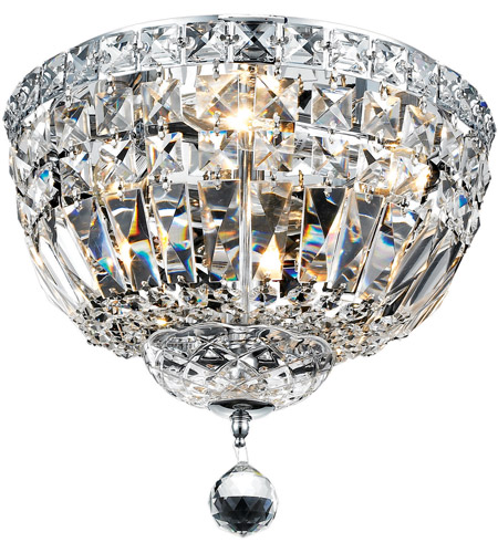 Elegant Lighting V2528F12C/RC Tranquil 4 Light 12 inch Chrome Flush Mount Ceiling Light in Royal Cut photo