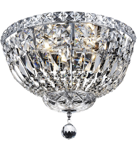 Elegant Lighting Tranquil 4 Light Flush Mount in Chrome with Royal Cut Clear Crystal 2528F14C/RC photo