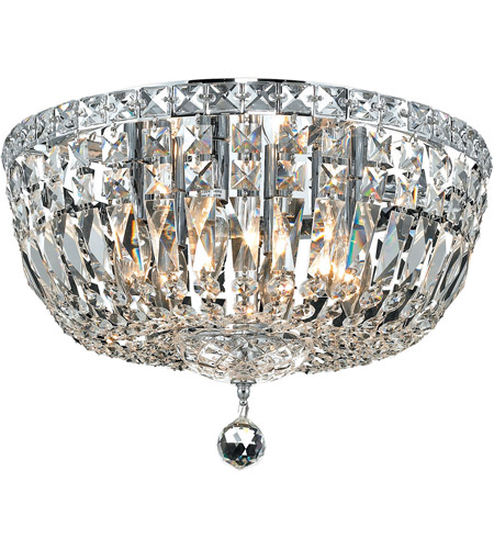Elegant Lighting Tranquil 6 Light Flush Mount in Chrome with Royal Cut Clear Crystal 2528F16C/RC photo