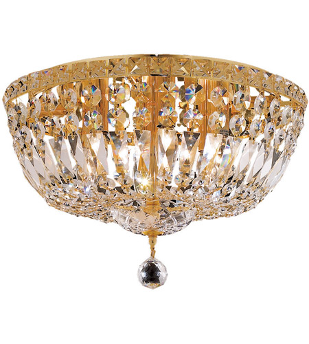 Elegant Lighting Tranquil 6 Light Flush Mount in Gold with Royal Cut Clear Crystal 2528F16G/RC photo
