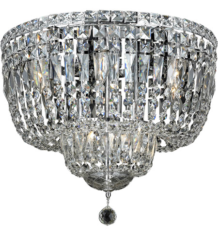 Elegant Lighting Tranquil 10 Light Flush Mount in Chrome with Spectra Swarovski Clear Crystal 2528F20C/SA photo