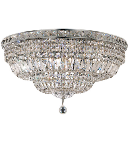 Elegant Lighting V2528F24C/EC Tranquil 12 Light 24 inch Chrome Flush Mount Ceiling Light in Elegant Cut photo