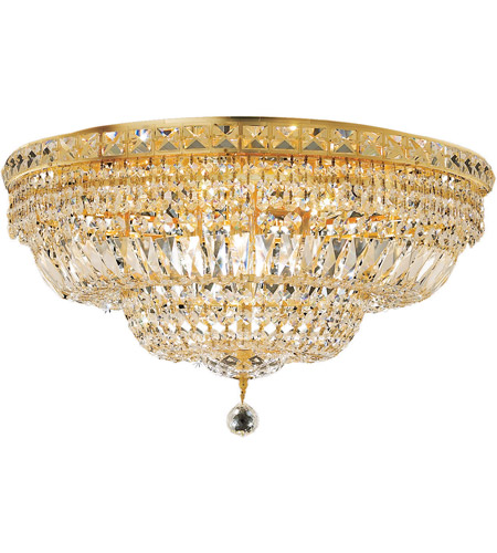 Elegant Lighting 2528F24G/SA Tranquil 12 Light 24 inch Gold Flush Mount Ceiling Light in Spectra Swarovski photo