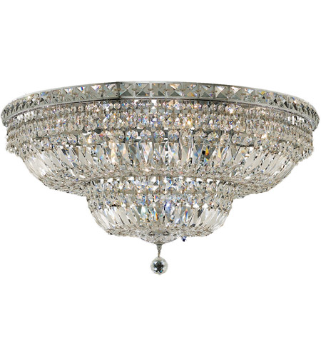 Elegant Lighting Tranquil 18 Light Flush Mount in Chrome with Spectra Swarovski Clear Crystal 2528F30C/SA photo