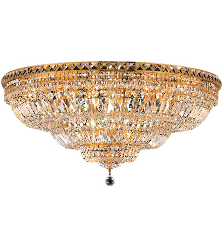 Elegant Lighting Tranquil 21 Light Flush Mount in Gold with Royal Cut Clear Crystal 2528F36G/RC photo
