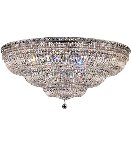 Elegant Lighting 2528F48C/EC Tranquil 33 Light 48 inch Chrome Flush Mount Ceiling Light in Elegant Cut photo