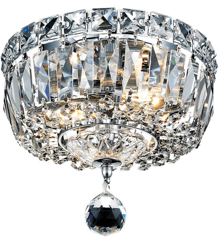 Elegant Lighting Tranquil 2 Light Flush Mount in Chrome with Royal Cut Clear Crystal 2528F8C/RC photo
