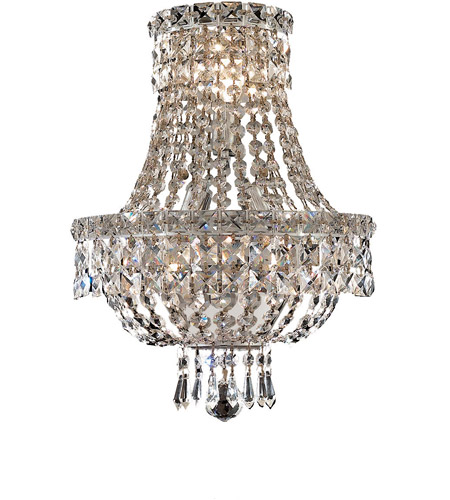 Elegant Lighting Tranquil 3 Light Wall Sconce in Chrome with Elegant Cut Clear Crystal 2528W12C/EC photo
