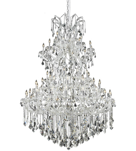 Elegant Lighting Maria Theresa 61 Light Foyer in Chrome with Royal Cut Clear Crystal 2800G54C/RC photo