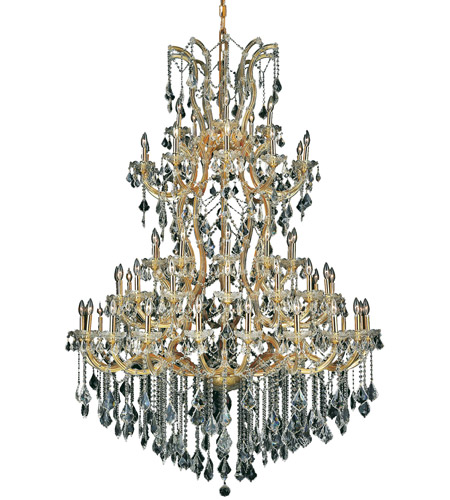 Elegant Lighting Maria Theresa 61 Light Foyer in Gold with Spectra Swarovski Clear Crystal 2800G54G/SA photo