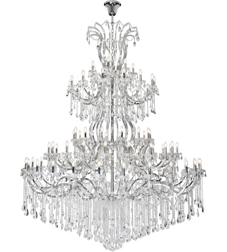 Elegant Lighting Steel Maria Theresa Chandeliers