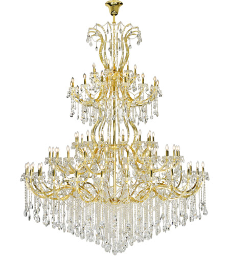 Gold Steel Maria Theresa Chandeliers