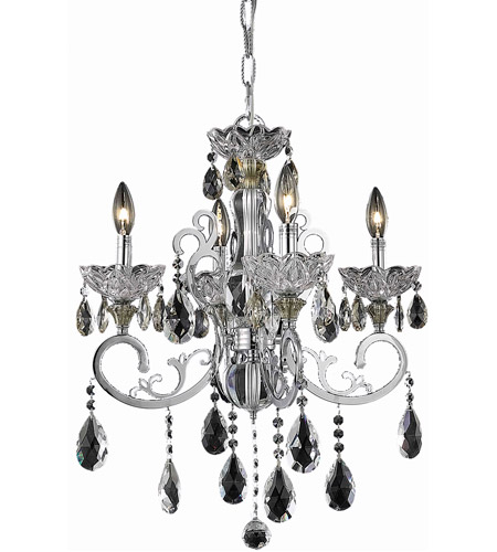 Elegant Lighting Aria 4 Light Dining Chandelier in Chrome with Spectra Swarovski Clear Crystal 2830D20C/SA photo