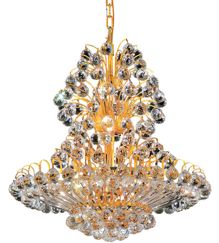 Elegant Lighting 2908D24G/RC Sirius 14 Light 24 inch Gold Dining Chandelier Ceiling Light in Royal Cut photo