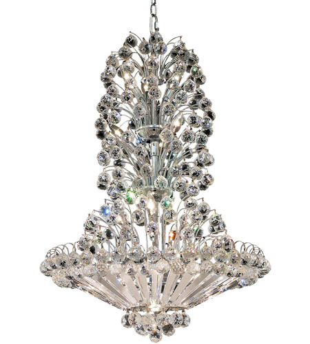 Elegant Lighting Sirius 22 Light Dining Chandelier in Chrome with Spectra Swarovski Clear Crystal 2908D28C/SA photo
