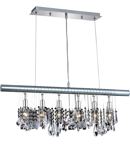 Elegant Lighting 3100D30C/RC Chorus Line 6 Light 30 inch Chrome Dining Chandelier Ceiling Light photo