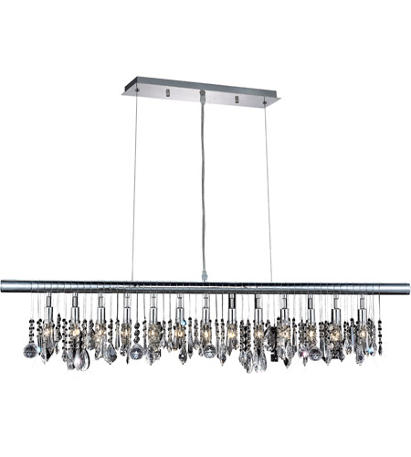 Elegant Lighting Chorus Line 13 Light Dining Chandelier in Chrome with Royal Cut Clear Crystal 3100D48C/RC photo