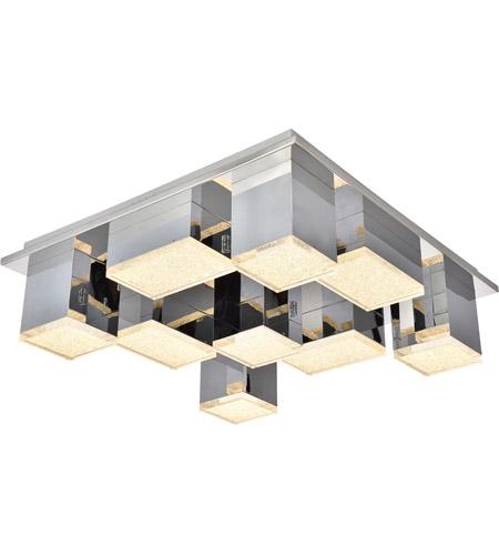 Elegant Lighting 5100f9c Glasgow Led 20 Inch Chrome Flush Mount Ceiling Light
